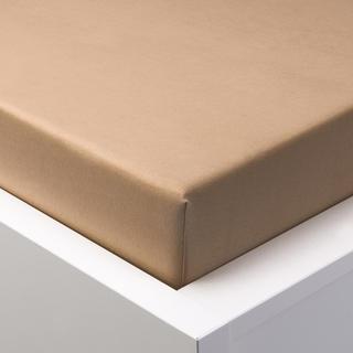 Napínací prostěradlo jersey s elastanem hnědé, 180 x 200 cm
