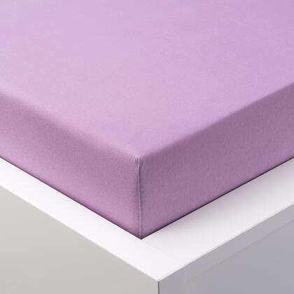 Napínací prostěradlo jersey EXCLUSIVE fialové, jednolůžko