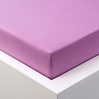 Napínací prostěradlo jersey s elastanem fialové, 180 x 200 cm