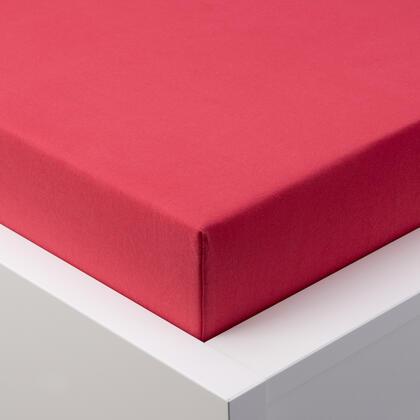 Napínací prostěradlo jersey EXCLUSIVE červená jednolůžko