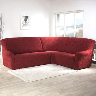Super strečové potahy 3D FUSTA cihlové, rohová sedačka (š. 340 - 540 cm)