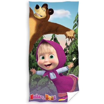 Dětská bavlněná froté osuška Máša a medvěd Míša