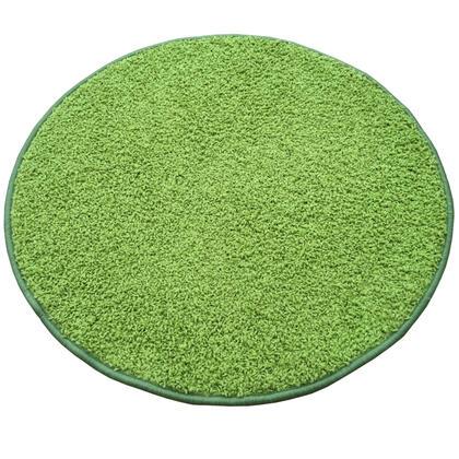 Kulatý koberec SHAGGY zelený