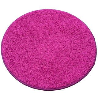 Kulatý koberec SHAGGY růžový