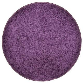 Kulatý koberec SHAGGY fialový