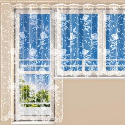 Hotová žakárová záclona VERONIKA - balkonový komplet