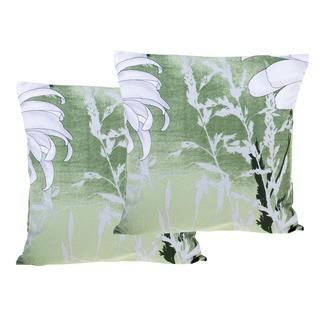 Bavlněné povlaky na polštářky Daisy zelená 2 ks