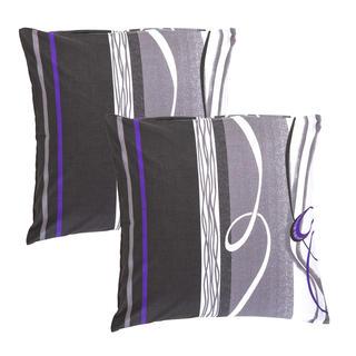 Bavlněné povlaky na polštářky Twist šedé 2 kusy