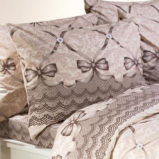 Bavlněný povlak na polštář Aundrey hnědý 70 x 90 cm