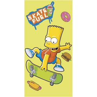 Dětská osuška Bart Simpson skate žlutá