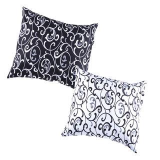 Bavlněné povlaky na polštářky Veronika 2 ks černobílé