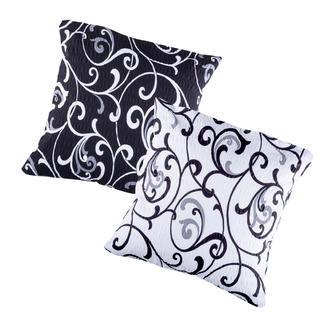 Krepové povlaky na polštářek Veronika 2 ks černobílé