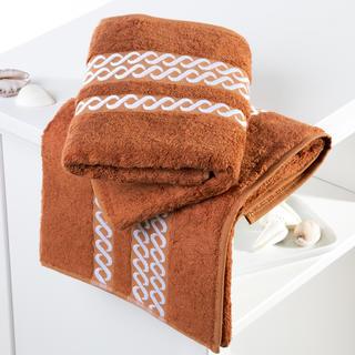 Bambusové ručníky Valencia karamelové