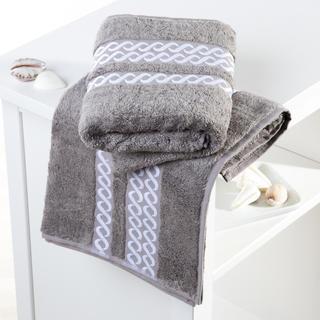 Bambusové ručníky Valencia šedobílé