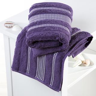 Bavlněné froté ručníky Paris tmavě fialové sada 2 kusů