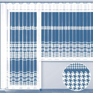 Hotová žakárová záclona Pepita - balkonový komplet