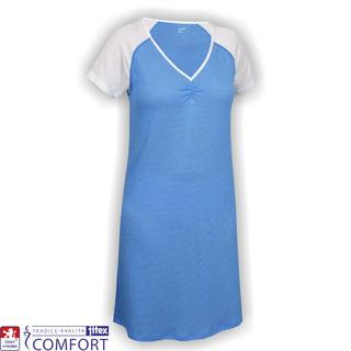 Dámská funkční noční košile Juska modrá