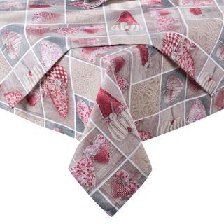 Ubrus patchwork Srdce červené