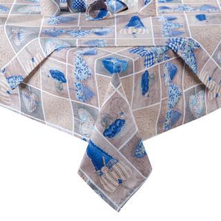 Ubrus patchwork Srdce modré