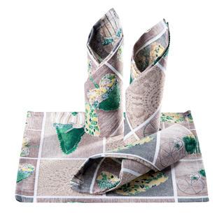 Prostírky patchwork Srdce zelené 4 ks