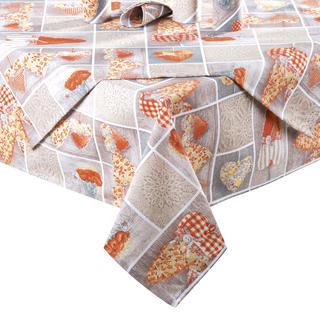 Ubrus patchwork Srdce oranžové