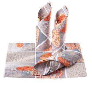 Prostírky patchwork Srdce oranžové 4 ks