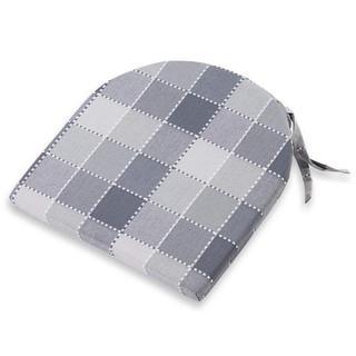 Půlkulatý sedák Indie kostka šedý 37 x 37 cm