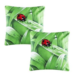 Bavlněný povlak na polštářek Lily zelený 2 ks