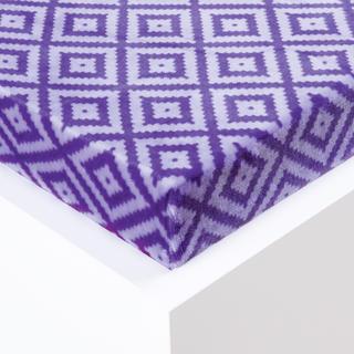 Napínací prostěradlo Sebastien mikroplyš fialové