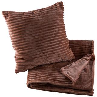 Oboustranná deka s povlakem na polštář Ipala oříšková