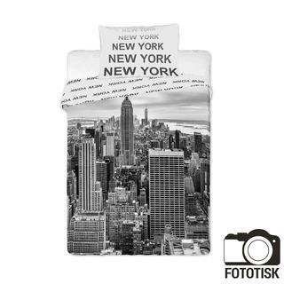 Bavlněné ložní povlečení New York černobílé