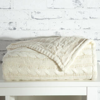 Pletená deka Tahara slonová kost