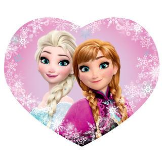 Dětský polštářek FROZEN Elsa a Anna tvarovaný 31 x 24 cm