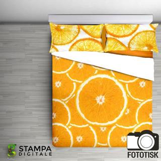 Bavlněné ložní povlečení Arance oranžové