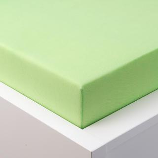 Napínací prostěradlo jersey s elastanem zelené, 90 x 200 cm