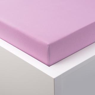 Napínací prostěradlo jersey s elastanem světle fialové, 180 x 200 cm