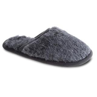 Domácí pantofle s protiskluzovou podrážkou šedé