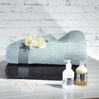 Sada ručníků z mikrobavlny šedá a šedomodrá 50 x 100 cm 2 ks