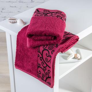 Bambusové ručníky Granada bordó
