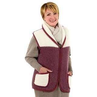Dámská vesta se šálovým límcem z ovčí vlny MERINO