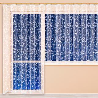 Hotová žakárová záclona JOANNA - balkonový komplet