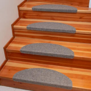 Koberec na schody QUICKSTEP půlkruh béžové