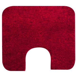 Koupelnová předložka Tassos červená, GRUND, k toaletě 55 x 50 cm