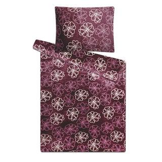 Ložní povlečení z mikroplyše fialové květiny