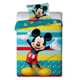Dětské ložní povlečení Mickey mouse pruhy
