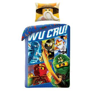 Dětské ložní povlečení Lego Ninjago modré