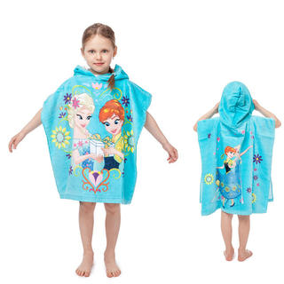 Dětská osuška pončo s kapucí FROZEN 60 x 120 cm