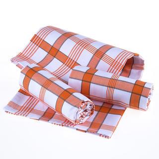 Utěrky z egyptské bavlny KÁRO oranžové 50 x 70 cm 3 ks