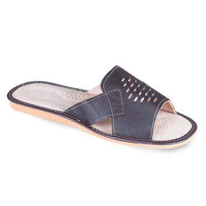 Pánské kožené pantofle tmavě hnědé