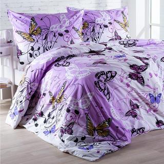 Bavlněné ložní povlečení Butterfly fialové
